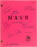 "Movie/TV Memorabilia:Autographs and Signed Items, M*A*S*H Cast Signed ""Say No More"" Script (20th Century Fox /CBS, 1982)...."