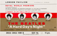 The Beatles A Hard Day's Night Royal World Premier Ticket (London, July 6, 1964)