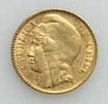 Chile, Chile: Republic gold 5 Pesos 1895-So AU (light surface hairlines),...