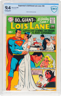 Superman's Girlfriend Lois Lane #86 (DC, 1968) CBCS NM 9.4 Off-white to white pages