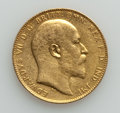 Australia, Australia: Edward VII gold Sovereign 1907-P XF (surface hairlines),...