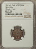 (1861-65) Civil War Token, Army & Navy, Fuld-299/350 a MS65 Brown NGC....(PCGS# 603302)