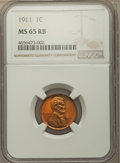 Lincoln Cents: , 1911 1C MS65 Red and Brown NGC. NGC Census: (85/5). PCGS Population: (100/13). CDN: $150 Whsle. Bid for problem-free NGC/PC...