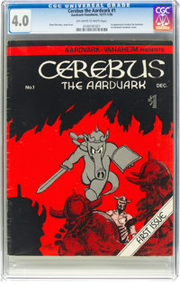 Cerebus the Aardvark #1 (Aardvark-Vanahem, 1977) CGC VG 4.0 Off-white to white pages