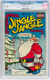 Jingle Jangle Comics #42 (Eastern Color, 1949) CGC NM 9.4 Cream to off-white pages