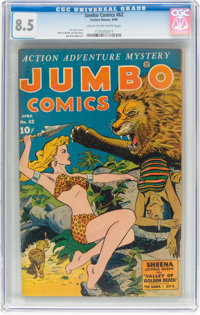Jumbo Comics #62 (Fiction House, 1944) CGC VF+ 8.5 Cream to off-white pages