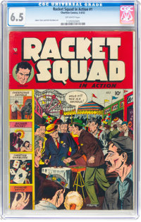 Racket Squad in Action #1 (Charlton, 1952) CGC FN+ 6.5 Off-white pages