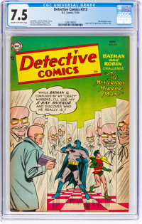 Detective Comics #213 (DC, 1954) CGC VF- 7.5 Cream to off-white pages