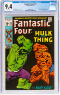 Bronze Age (1970-1979):Superhero, Fantastic Four #112 (Marvel, 1971) CGC NM 9.4 White pages....