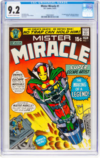 Mister Miracle #1 (DC, 1971) CGC NM- 9.2 Off-white to white pages