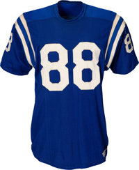 Early 1960's John Mackey Game Worn Baltimore Colts Rookie Jersey