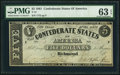 Confederate Notes:1861 Issues, T12 $5 1861 PF-1 Cr. 46 PMG Choice Uncirculated 63 EPQ.. ...