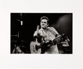 Music Memorabilia:Photos, Johnny Cash Middle Finger to Camera Photo Signed by Photographer Jim Marshall....