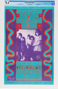 Music Memorabilia:Posters, Jefferson Airplane Fillmore Concert Poster BG-42 Signed by GraceSlick And Wes Wilson CGC 9.2 (1966). ...