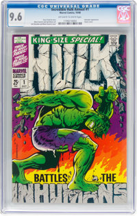 The Incredible Hulk Annual #1 (Marvel, 1968) CGC NM+ 9.6 Off-white to white pages