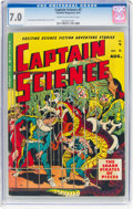 Golden Age (1938-1955):Science Fiction, Captain Science #5 (Youthful Magazines, 1951) CGC FN/VF 7.0 Cream to off-white pages....