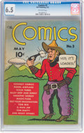 Platinum Age (1897-1937):Miscellaneous, The Comics #3 (Dell, 1937) CGC FN+ 6.5 Off-white pages....