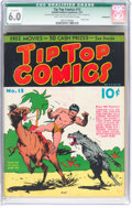 Platinum Age (1897-1937):Miscellaneous, Tip Top Comics #13 Incomplete (United Features Syndicate/Standard,1937) CGC Qualified FN 6.0 Light tan to off-white pages....