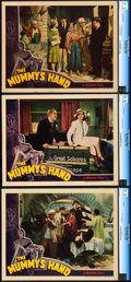 "Movie Posters:Horror, The Mummy's Hand (Universal, 1940). Very Fine+. CGC Graded LobbyCards (3) (11"" X 14"").. ... (Total: 3 Items)"