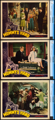 """The Mummy's Hand (Universal, 1940). Very Fine+. CGC Graded Lobby Cards (3) (11"""" X 14""""). ... (Total: 3 Items)"""