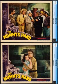 """The Mummy's Hand (Universal, 1940). Near Mint-. CGC Graded Lobby Cards (2) (11"""" X 14""""). ... (Total: 2 Items)"""