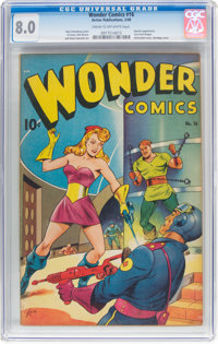 Wonder Comics #16 (Better Publications, 1948) CGC VF 8.0 Cream to off-white pages