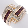 Estate Jewelry:Rings, Ruby, Diamond, Gold Ring, Erté. ...