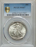 1936 50C MS67 PCGS Secure. PCGS Population: (184/2 and 19/0+). NGC Census: (110/13 and 10/0+). CDN: $650 Whsle. Bid for...