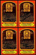 Autographs:Post Cards, Willie Mays Signed Hall of Fame Plaque Postcard Collection (4). ...