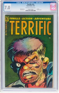 Terrific Comics #14 (Comic Media, 1954) CGC FN/VF 7.0 Off-white to white pages