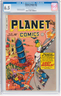 Planet Comics #63 (Fiction House, 1949) CGC FN+ 6.5 Off-white to white pages