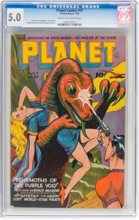 Planet Comics #37 (Fiction House, 1945) CGC VG/FN 5.0 Cream to off-white pages