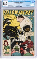 Golden Age (1938-1955):Superhero, Yellowjacket Comics #7 (Frank Comunale/Charlton, 1946) CGC VF 8.0 Cream to off-white pages....