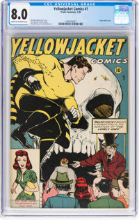 Yellowjacket Comics #7 (Frank Comunale/Charlton, 1946) CGC VF 8.0 Cream to off-white pages