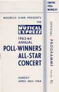 "Music Memorabilia:Memorabilia, Beatles ""Maurice Kinn Presents The New Musical Express 1963-1964 Annual Poll-Winners All-Star Concert Official Program, (UK, 1..."