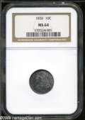 Bust Dimes: , 1836 10C MS64 NGC. ...