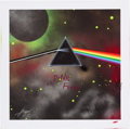 Music Memorabilia:Original Art, Pink Floyd Dark Side of the Moon Inspired Canvas PaintingSigned by Roger Waters and Nick Mason and the Artist....