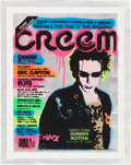 Music Memorabilia:Original Art, Johnny Rotten Creem Magazine Inspired Canvas Artwork Signed by Artist (2016). ...