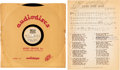 "Music Memorabilia:Memorabilia, Bob Dylan ""Long Time Gone"" Ultra Rare 10"" Acetate and Sheet Music (circa 1960s)...."