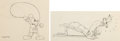 Animation Art:Production Drawing, The Klondike Kid Mickey Mouse and Pluto Animation DrawingsGroup of 2 (Walt Disney, 1932). ... (Total: 2 Original Art)