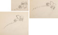 Animation Art:Production Drawing, The Mail Pilot Mickey Mouse Animation Drawings Sequence of 3(Walt Disney, 1933).... (Total: 3 Original Art)