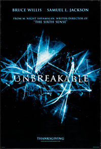 """Unbreakable & Other Lot (Buena Vista, 2000) Rolled, Very Fine. One Sheets (2) (27"""" X 40"""") DS, Advance. Dra..."""