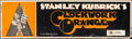 """Movie Posters:Science Fiction, A Clockwork Orange (Warner Brothers, 1971) Rolled, Fine-. Banner (82"""" X 24"""") X-Rated Style. Philip Castle Artwork. Science F..."""