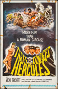 "Movie Posters:Comedy, The Three Stooges Meet Hercules & Other Lot (Columbia, 1962) Folded, Fine+. One Sheets (2) (27"" X 41""). Comedy.... (Total: 2 Items)"