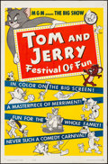 """Movie Posters:Animation, Tom and Jerry: Festival of Fun (MGM, 1962) Folded, Very Fine. One Sheet (27"""" X 41""""). Animation...."""