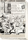 "Original Comic Art:Complete Story, Dick Ayers Sgt. Fury and His Howling Commandos #84 Complete 20-Page Story ""The Devil's Disciples!"" Original Art (M..."