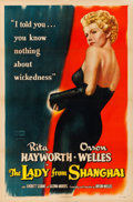 """Movie Posters:Film Noir, The Lady from Shanghai (Columbia, 1947). Very Fine on Linen. OneSheet (27"""" X 41"""").. ..."""