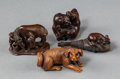 Carvings, A Group of Four Japanese Carved Boxwood Netsuke, 20th century. 2-1/2 x 1 x 0-3/4 inches (6.4 x 2.5 x 1.9 cm) (longest, mouse... (Total: 4 Items)