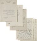 Books:Mystery & Detective Fiction, [Raoul Whitfield]. Joseph Shaw and Prudence Whitfield. Four Letters, Signed, and a Typescript, with Cover Letter. New York: ...