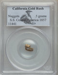 Nuggets, 1857 California Gold Rush Nuggets, S.S. Central America PCGS. .5 Grams....